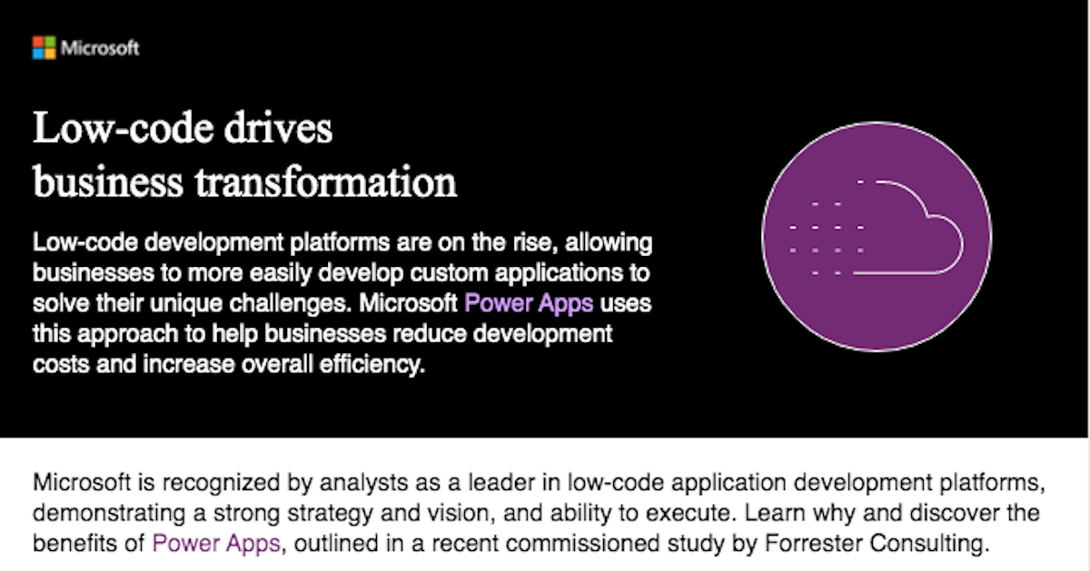 Low-code drives business transformation